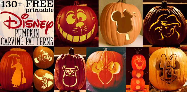 ...so I made one. This is now the ultimate place for Disney pumpkin stencils! Here are over 130 printable pumpkin patterns ready to use for Halloween this year