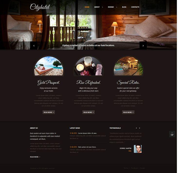 Website Company Profile Template Hotel Company