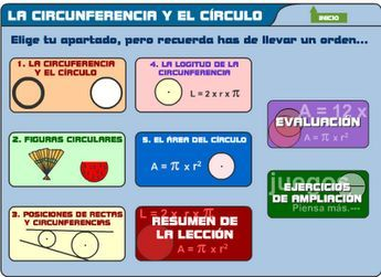 Se trata de un conjunto de actividades donde profundizar en los conceptos de circunferencia y círculo
