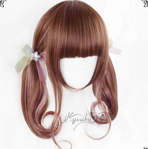 Harajuku cute kawaii gradients wig