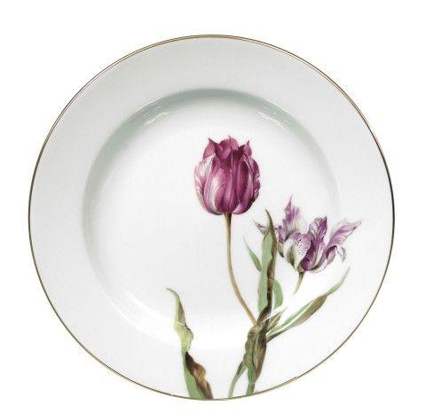 Plate, Flower painting 'tulips', Meissen Porcelain