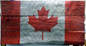 Image result for canadian flag barn