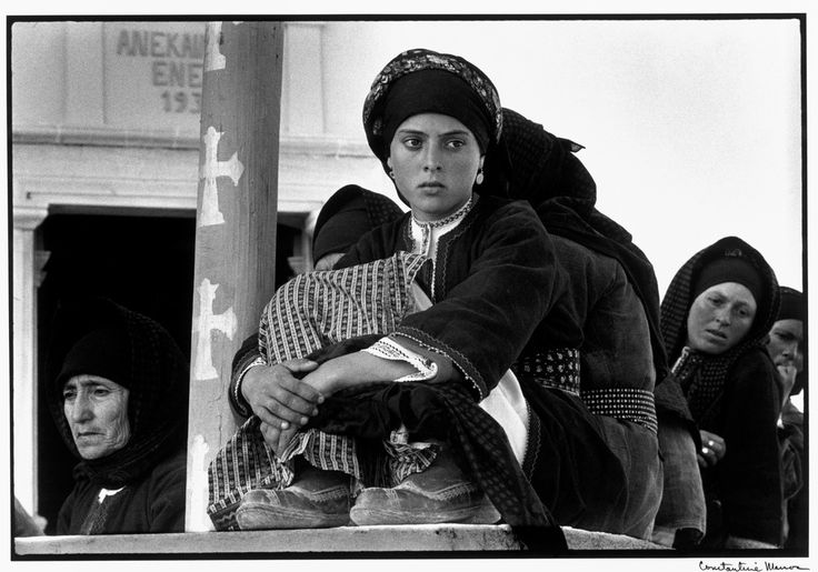 "Constantine Manos View profile GREECE. Karpathos. Olympos. 1964. Watching the dance. ""A Greek Portfolio"" p.114 © Costa Manos/Magnum Photos"