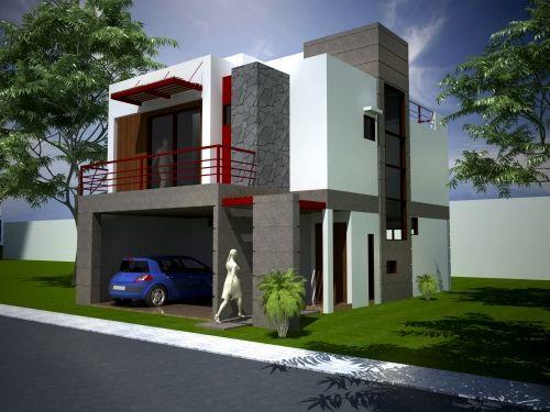 Fachadas de casas com muros modernos pesquisa google - Fachadas casas minimalistas ...