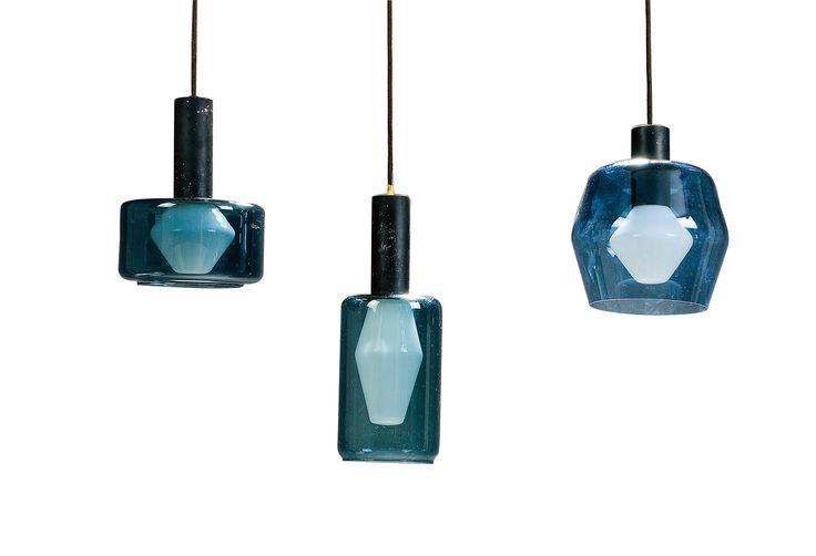 auction 119A - Tapio Wirkkala. Three 'K2-138, K2-139, K2-141' ceiling lights, 1960.