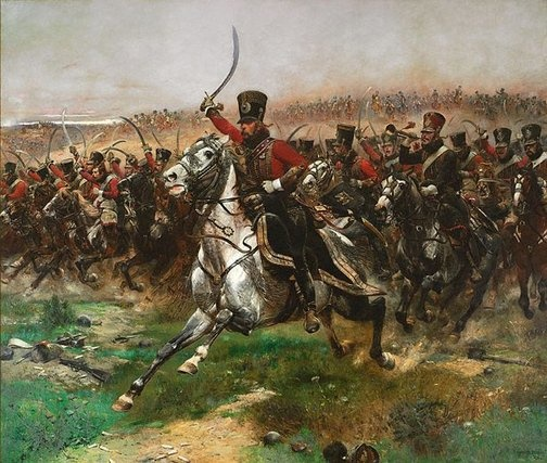 An image of Vive L'Empereur by Edouard Detaille