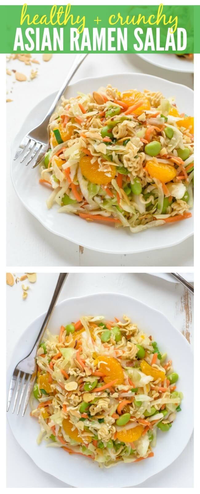 A healthy version of the classic Crunchy Asian Ramen Salad that's as good as the original but made from better ingredients! www.wellplated.com | @wellplated
