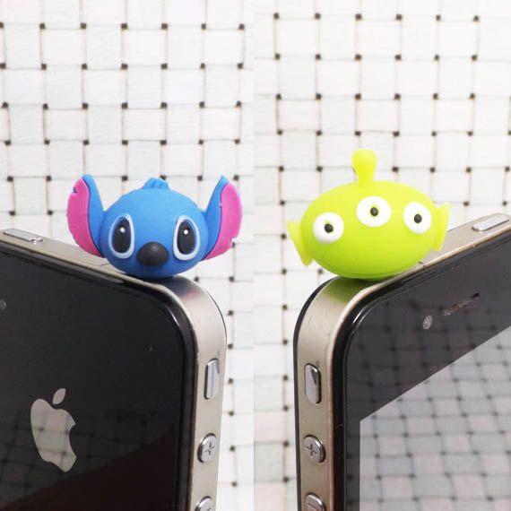 30%OFF Alien Toy Story Blue Stitch Interstellar Baby 3.5mm Cell Phone Plug iPhone 4 4S 5 5S Dust Plug Samsung Charm Headphone Jack Ear Cap (want alien)