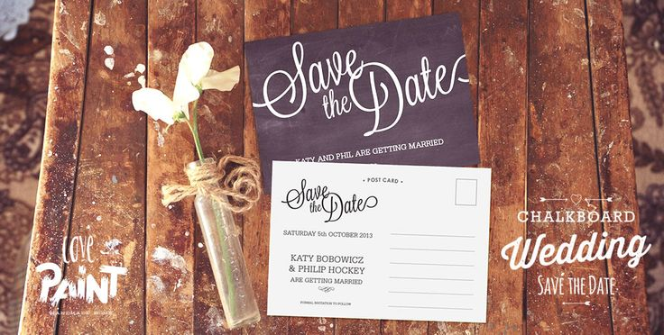 Chalkboard Wedding Stationary, Invitations and Save the Date. Love Paint UK | Handmade Home Decor
