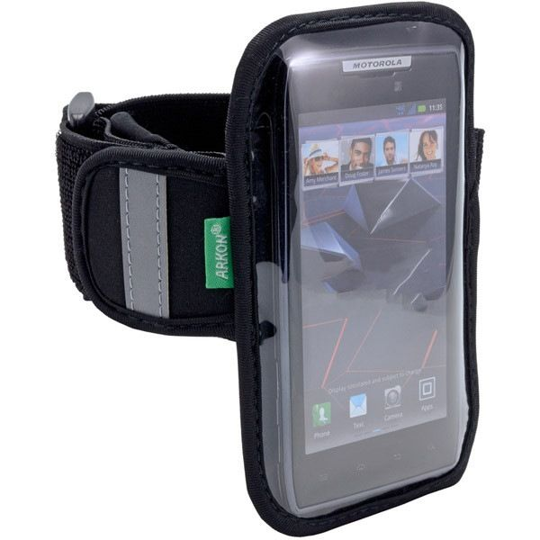 """Universal Sports Armband for Extra Large-Sized Smartphones. ARMBAND FOR LARGE SMARTPHONESFITS 4.3IN TO 4.8IN SDesigned to fit all phones with screens 3.3"""""""" to 5.5""""""""Features adjustable Velcro strap for easy adjustment and comfortDesigned to fit most smartphones and mobile phonesMade of stretchable, sweat-resistant neoprene materialReflective markers for safety during nighttime sports activityHeadphone jack cutout on top flap makes listening to music easyLightweight design includes storage…"""