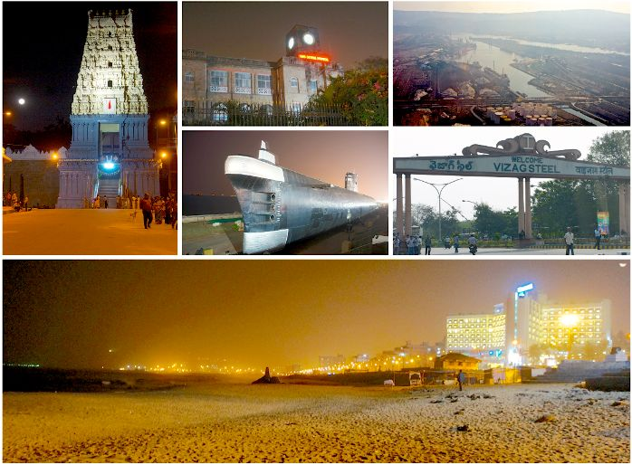 Collage of Important Places in Vizag