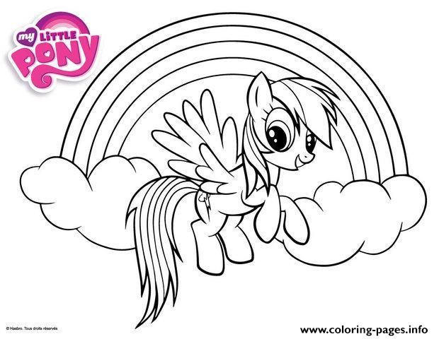 Print Rainbow Dash Little Pony Coloring Pages My ApplejackRainbow