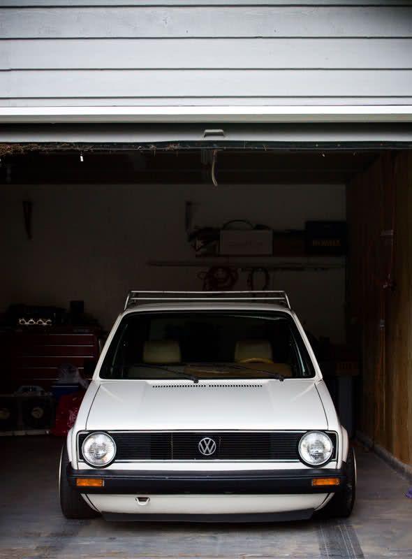 White VW Mk1 Golf GTi