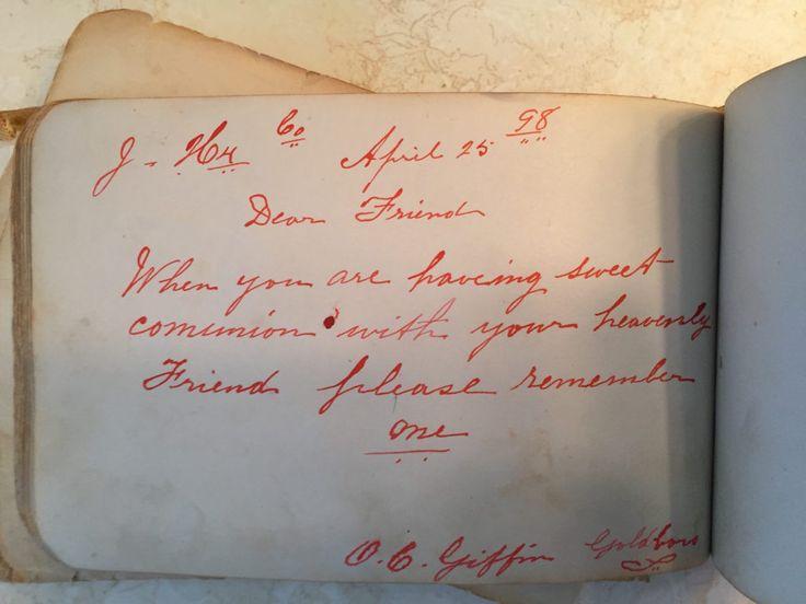 O. C. Griffin - April 25 1893 Goldboro, Jeddore, Halifax County