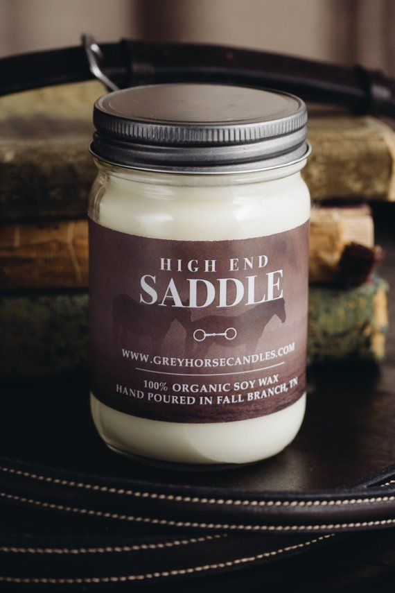 high end saddle candle