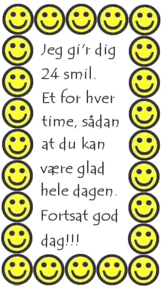 24 smil til dig.