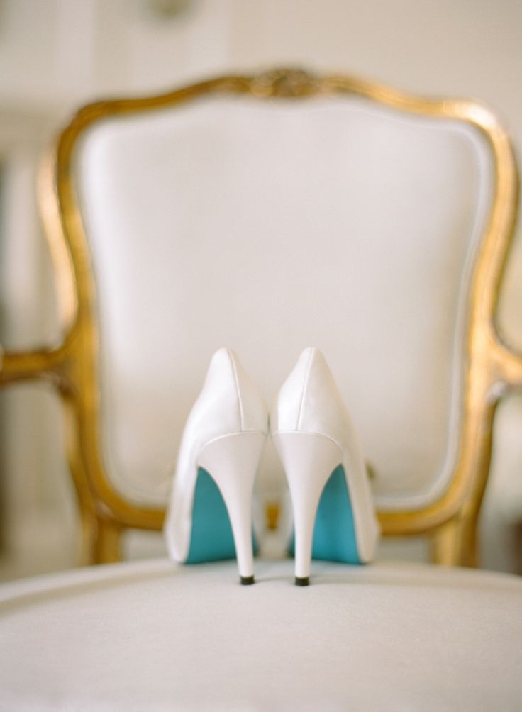 Something Blue wedding shoes by Bella Belle