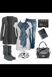 Cute Outfit, love the scarf