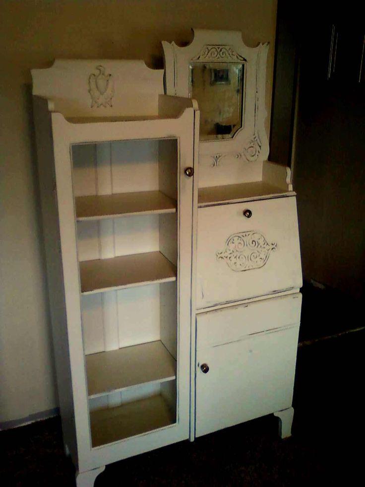repurposed top of hutch | Vintage Depression Era Secretary Desk | Finders  Keepers - 25+ Best Antique Secretary Desks Ideas On Pinterest Secretary
