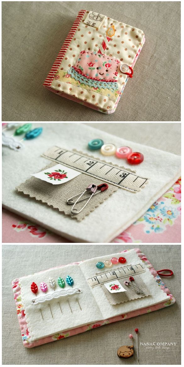 Make It: Adorable Happy Needlebook - Full Tutorial (oh my, I totally need to make this it's so CUTE!)
