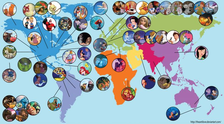 cartina dei cartoon