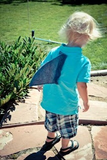 wearable shark fins for Shark birthday party - see this & many more shark party ideas at:  http://projectmommie.blogspot.com/#uds-search-results