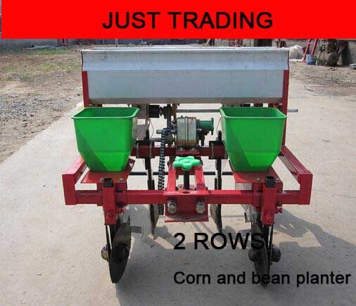Garden and farm working tools,walking tractor 2 rows corn and bean seeder ,corn and bean planter