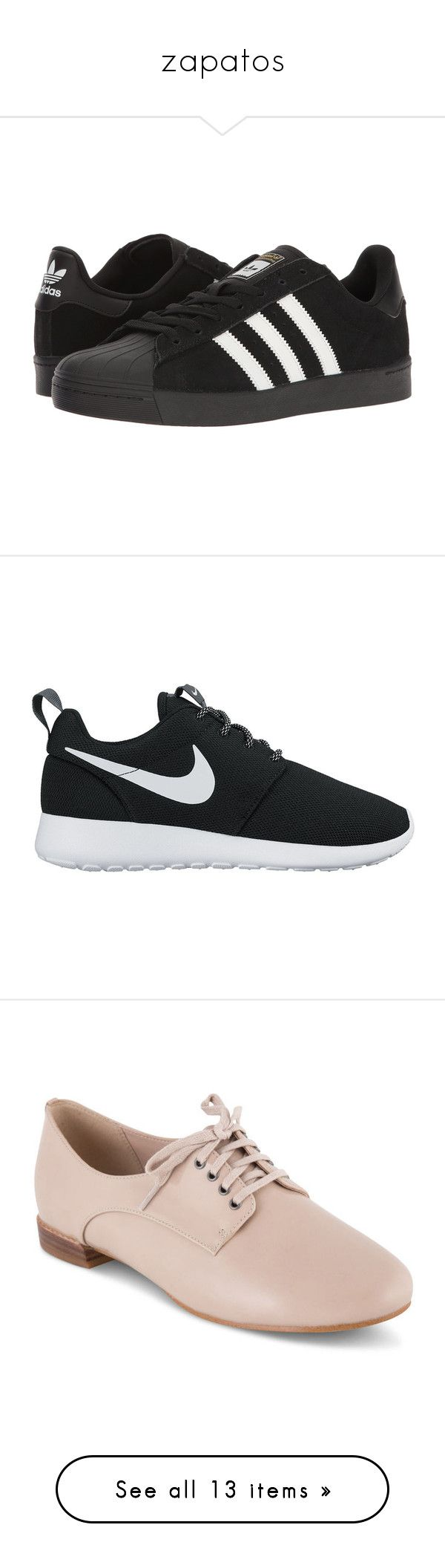 """""""zapatos"""" by donayralove on Polyvore featuring shoes, sneakers, adidas, zapatos, skate shoes, striped shoes, traction shoes, black white striped shoes, nike y nike footwear"""