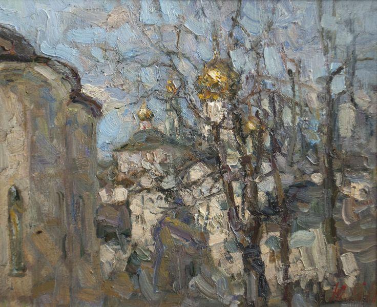 "Malanenkov Yuriy  ""Lavra spring"" Oil on canvas 50х60 cm 2011."