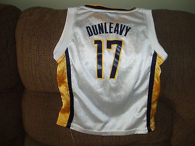 INDIANA PACERS MIKE DUNLEAVY BASKETBALL JERSEY SIZE MED 5-6 YOUTH