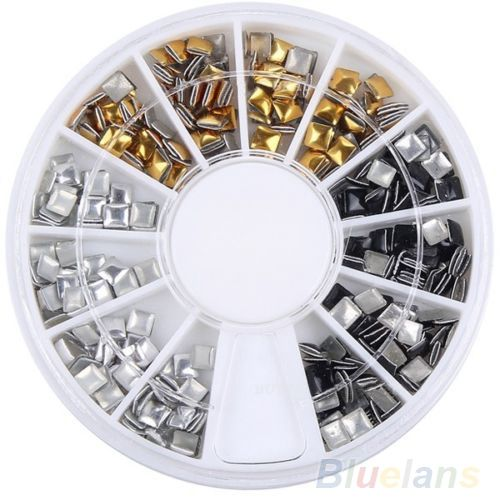 0.53$  Watch now - http://alila6.shopchina.info/go.php?t=32330480700 - New Fashion 3.0mm Gold&Silver Studs Nail Art 3D Design Decoration Stickers Square Punk Rivet 02MU 4BYK 0.53$ #magazineonlinebeautiful