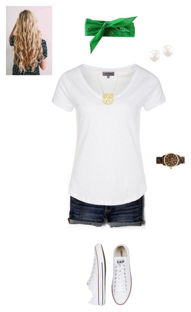 """""""Football game tomorrow!"""" by stylebymjs ❤ liked on Polyvore featuring American Eagle Outfitters, Zalando, Converse and Michael Kors"""