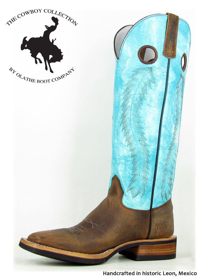 Olathe 16in Turquoise Marfalous Buckaroo Boots