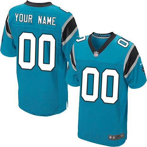 c patch nike nfl carolina panthers steve smith elite alternate blue mens jersey