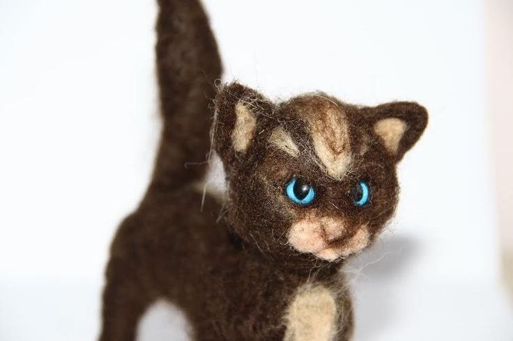 sweet Cat  needle felted miniature beautiful animal toys  handmade #10 #nutka_art #AllOccasion