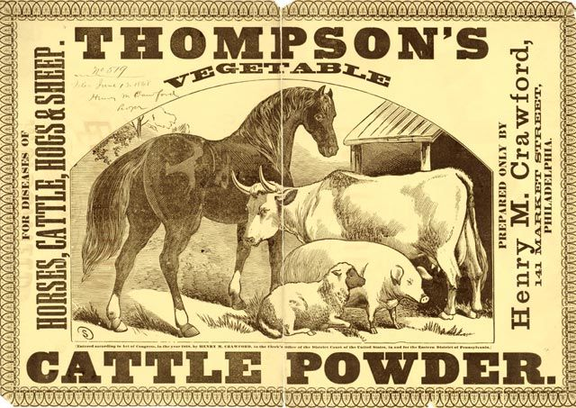 Late 19th Century American product label