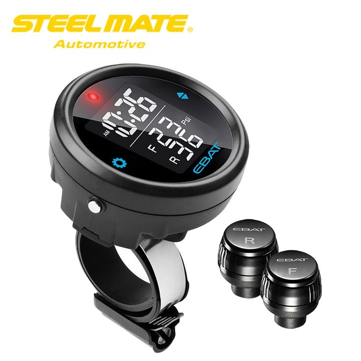 91.73$  Watch now - http://alioxj.shopchina.info/1/go.php?t=32802774692 - Steelmate EBAT ET-910AE TPMS Wireless Tire Pressure Monitoring System 2-sensor LCD Display for Motorcycle Power Lock Alarm Flip 91.73$ #SHOPPING