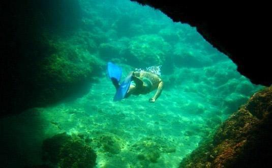 Sipan Island snorkeling cave, Craotia