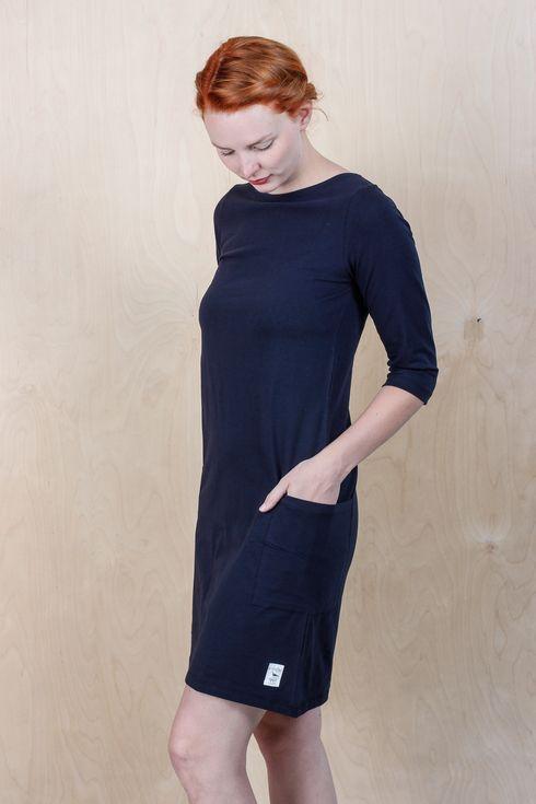 EM Mira Dress Navy - emma och malena