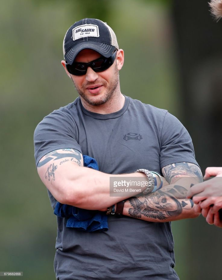 Tom Hardy attends the Audi Polo Challenge at Coworth Park on May 6, 2017 in Ascot, United Kingdom.