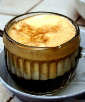 Scandinavian egg coffee.This is very old-fashioned way to make coffee.The clarifying effect of the egg white helps the coffee to sparkle!