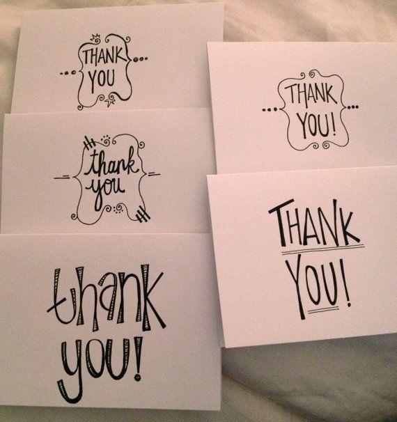 Set of 5 Custom HandWritten Greeting Cards by meghansimonett, $10.00