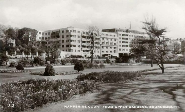 Court from the upper gardens Bournemouth Dorset England