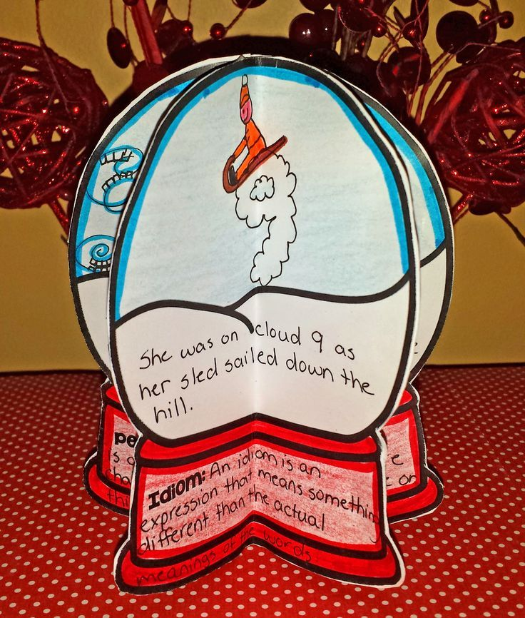 Figurative Language Snow Globes - students write and illustrate 6 different types of figurative language - assembles into a fun 3D snow globe perfect for display.