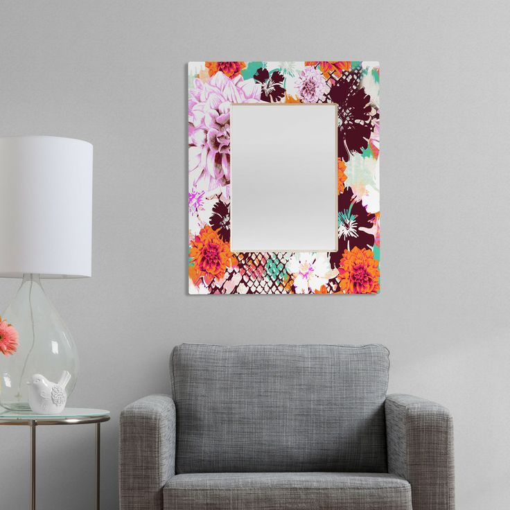 Aimee St Hill Croc And Flowers Orange Rectangular Mirror – #giftguide #splurge #special #unique #holiday