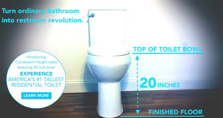 Convenient Height Co. is designing and manufacturing super cool toilets with the extra tall 20 inch height toilet bowls that even exceed ADA accessible bathroom requirements!