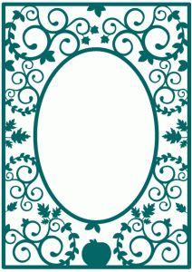 Silhouette Design Store - View Design #69156: autumn flourish frame background