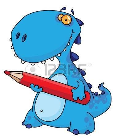 динозавр: иллюстрация динозавра карандашом