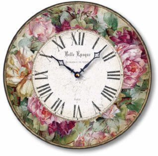 I love the look of distressed wood wall decor in fact reclaimed wood wall decor is more popular than ever.  Whether it be barnwood wall art, distressed wall clocks or even rustic wooden art you can find something cool for your home.  Item C8219 Vintage Victorian Style Roses Clock (12 Inch Diameter)