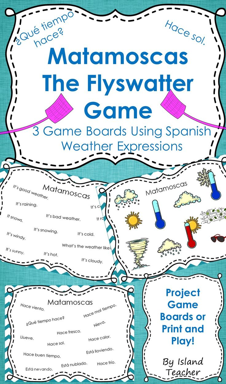 3 game boards to practice spanish weather vocabulary expressions island teacher resources. Black Bedroom Furniture Sets. Home Design Ideas